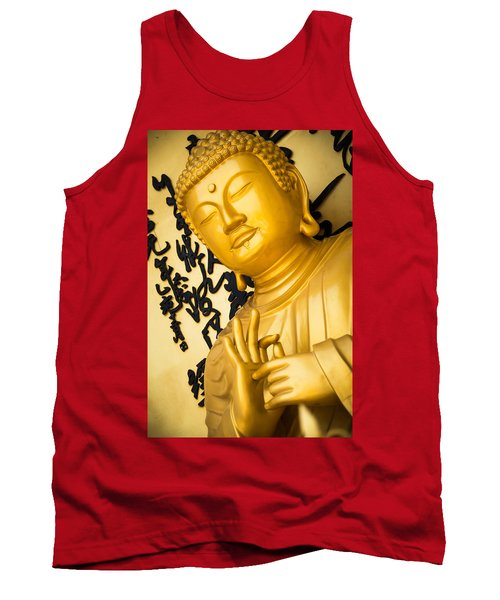 Golden Buddha Statue Tank Top