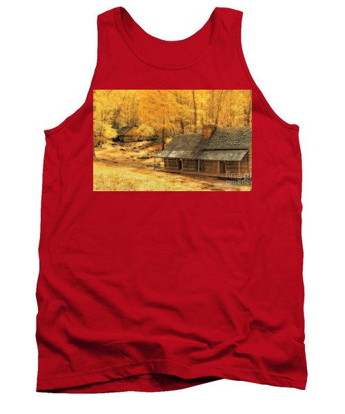 Tank Top featuring the photograph Golden Dream Home by Geraldine DeBoer