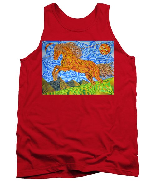 Golden Horse Over The Bitterroot's Tank Top