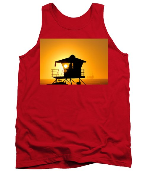 Tank Top featuring the photograph Golden Hour by Tammy Espino