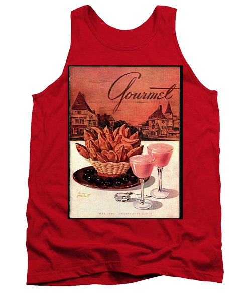 Gourmet Cover Featuring A Basket Of Potato Curls Tank Top