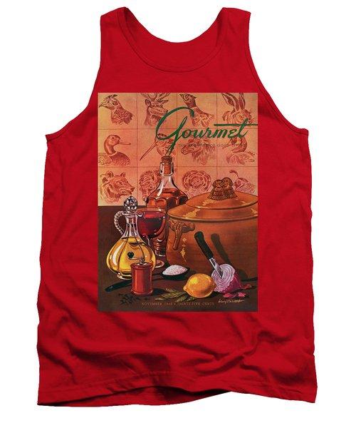 Gourmet Cover Featuring A Casserole Pot Tank Top