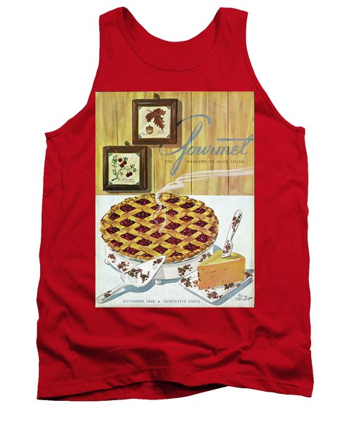Gourmet Cover Of Cranberry Pie Tank Top