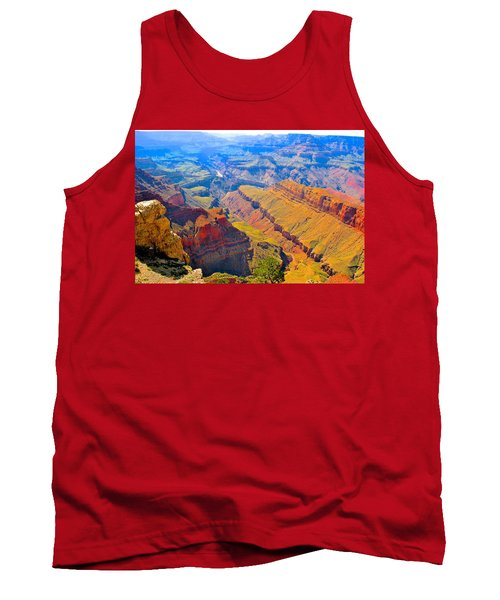 Grand Canyon In Vivid Color Tank Top by Jim Hogg