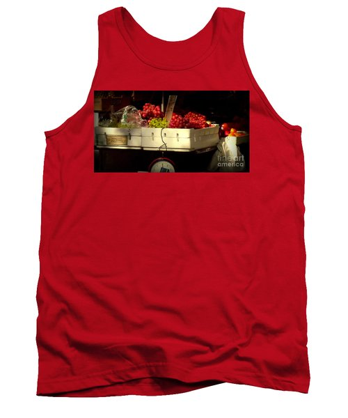Grapes With Weighing Scale Tank Top by Miriam Danar