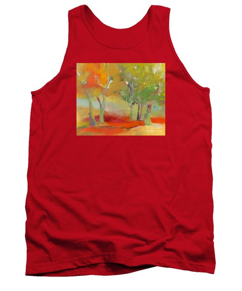 Tank Top featuring the painting Green Trees by Michelle Abrams