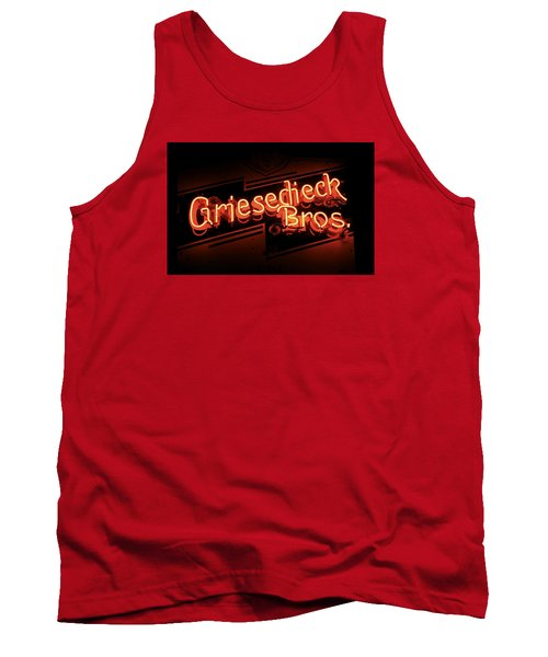 Tank Top featuring the photograph Griesedieck Brothers Beer Neon Sign by Jane Eleanor Nicholas