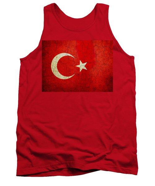 Grunge Turkey Flag Tank Top