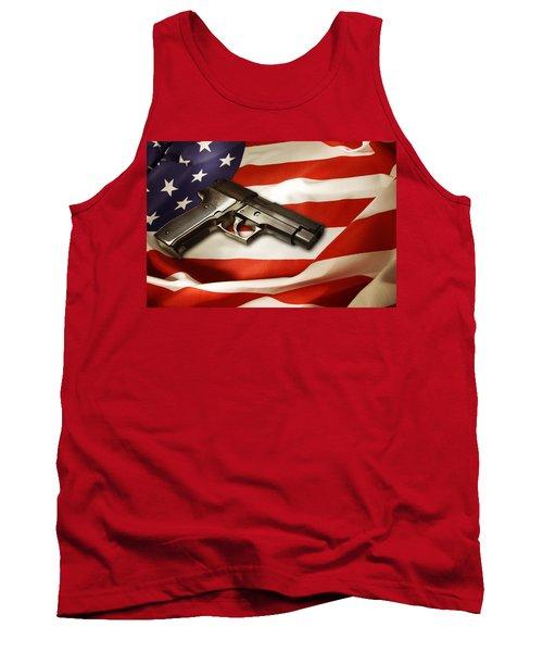 Gun On Flag Tank Top