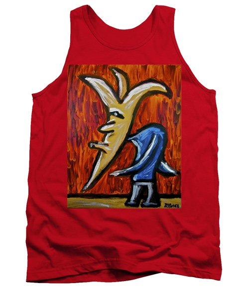 Tank Top featuring the painting Happiness 12-001 by Mario Perron