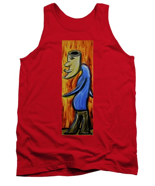 Tank Top featuring the painting Happiness 12-005 by Mario Perron