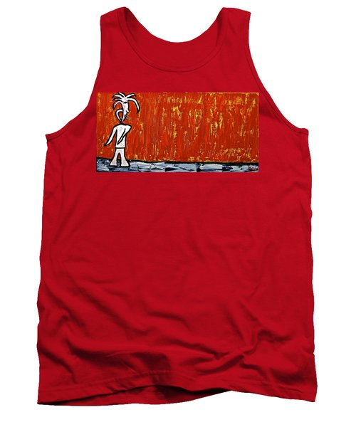 Tank Top featuring the painting Happiness 12-007 by Mario Perron