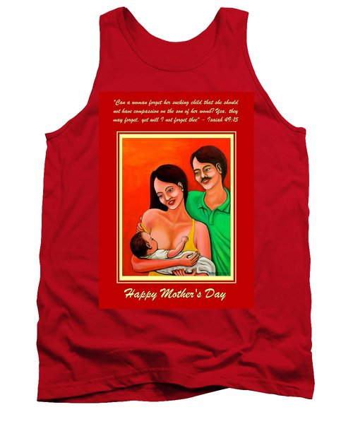 Tank Top featuring the mixed media Happy Family by Cyril Maza