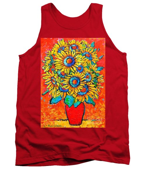 Happy Sunflowers Tank Top