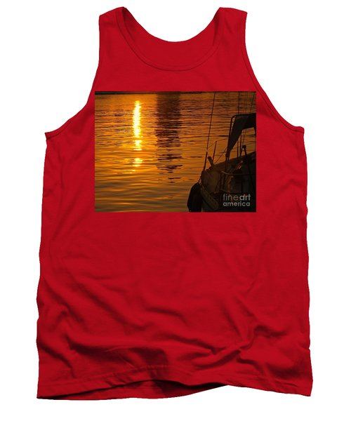 Harbour Sunset Tank Top by Clare Bevan