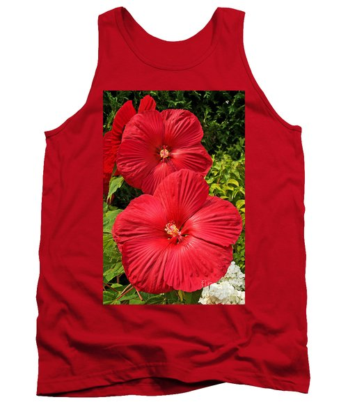 Hardy Hibiscus Tank Top by Sue Smith