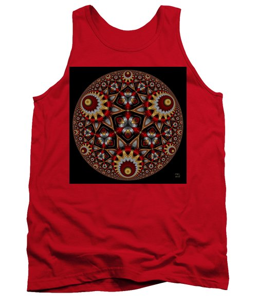 Tank Top featuring the digital art Harmonia by Manny Lorenzo