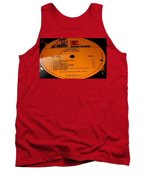 Harvest - Neil Young Side 1 Tank Top by Marcello Cicchini