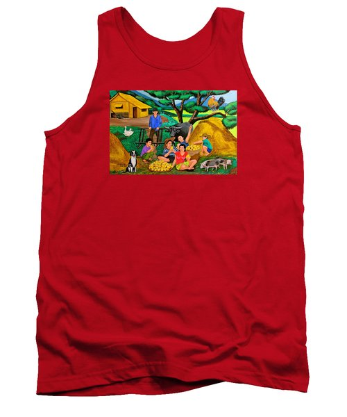 Tank Top featuring the painting Harvest Time by Cyril Maza