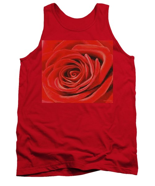 Heart Of A Red Rose Tank Top