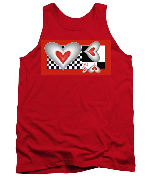 Hearts On A Chessboard Tank Top by Gabiw Art