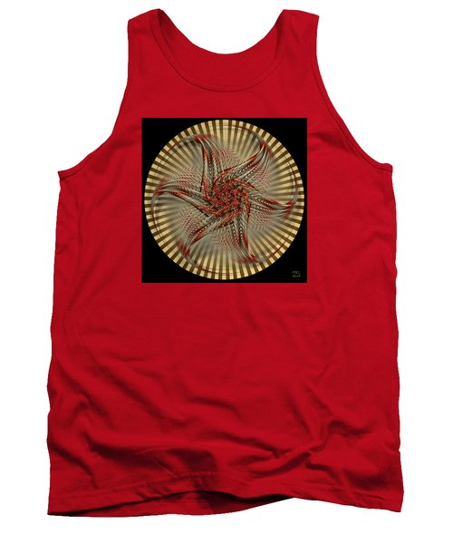 Tank Top featuring the digital art Hexagramma by Manny Lorenzo