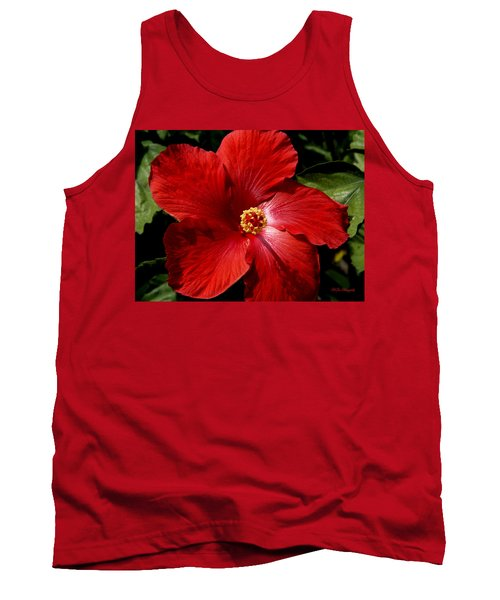 Hibiscus Landscape Tank Top by Jeanette C Landstrom