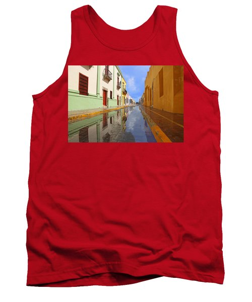 Tank Top featuring the photograph Historic Campeche Mexico  by Susan Rovira