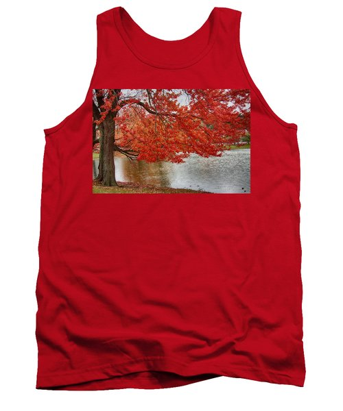 Tank Top featuring the photograph Holding Our Bright Red Joy by Jeff Folger