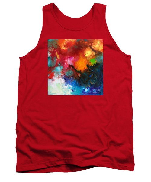 Holding The High Watch Canvas Three Tank Top by Sally Trace