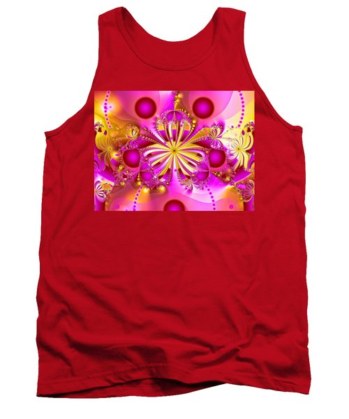 Hot Orchid Tank Top by Sylvia Thornton