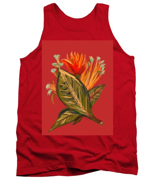 Tank Top featuring the digital art Hot Tulip L by Christine Fournier