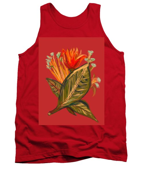 Tank Top featuring the digital art Hot Tulip R by Christine Fournier