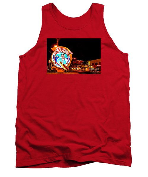 Tank Top featuring the photograph Huntington Beach Downtown Nightside 2 by Jim Carrell