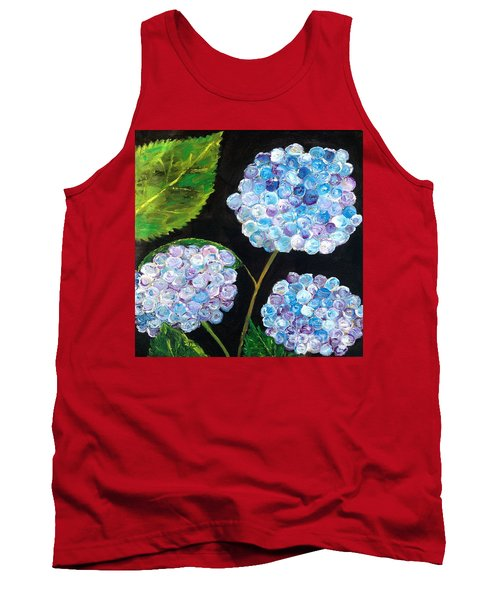 Tank Top featuring the painting Hydrangeas  by Reina Resto