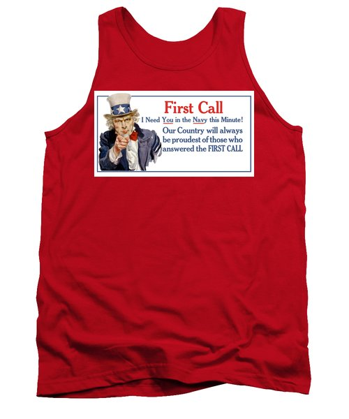 I Need You In The Navy - Uncle Sam Wwi Tank Top