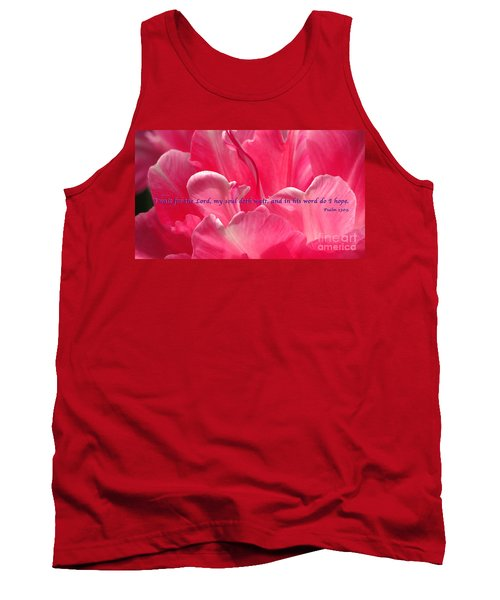 I Wait Tank Top by Terry Wallace