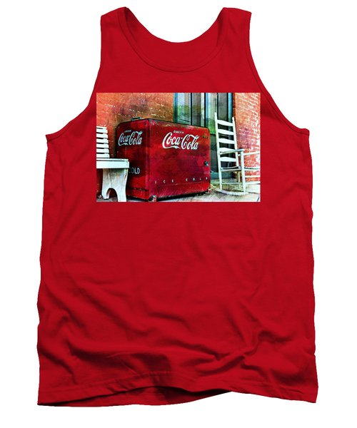 Ice Cold Coca Cola Tank Top by Benanne Stiens