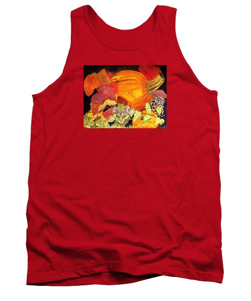 Tank Top featuring the painting I'm Hiding In The Pumpkin Patch by Angela Davies