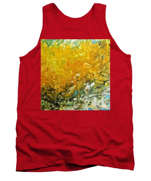 Tank Top featuring the painting In My Magic Garden by Joan Reese
