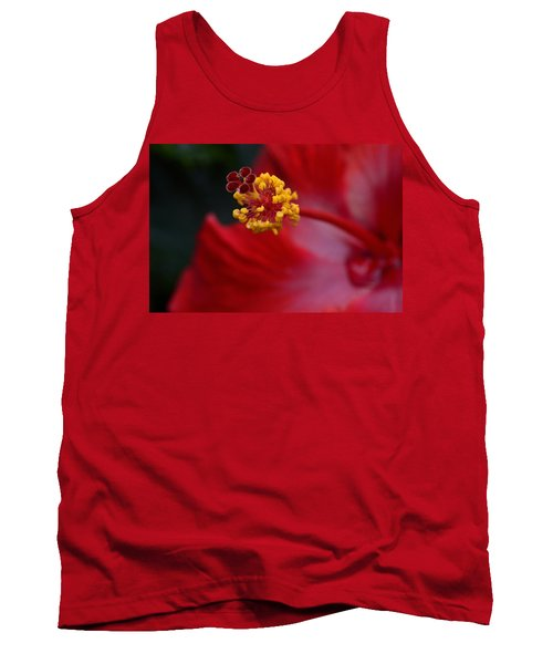Tank Top featuring the photograph In Red by Larry Bishop