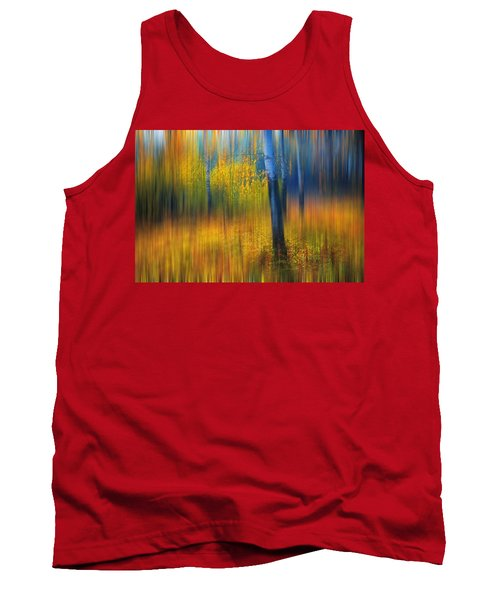 In The Golden Woods. Impressionism Tank Top by Jenny Rainbow