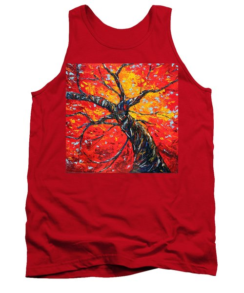 Tank Top featuring the painting In Your Light by Meaghan Troup