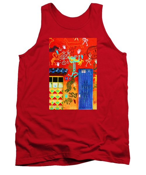 Tank Top featuring the photograph Indian Newspaper - Mexico by David Perry Lawrence