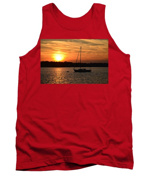 Island Heights Sunset Tank Top by Brian Hughes