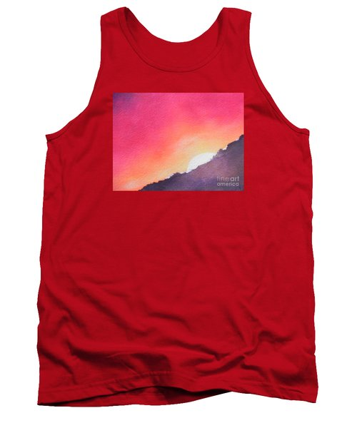 Tank Top featuring the painting It's Not About The Climb  Rather What Awaits You On The Other Side by Chrisann Ellis