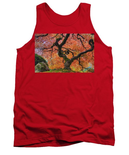Japanese Maple Tree In Fall Tank Top