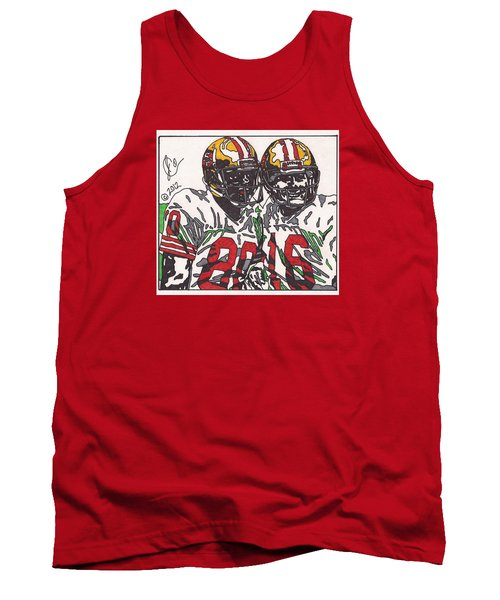 Joe Montana And Jerry Rice Tank Top by Jeremiah Colley