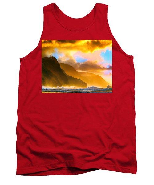 Ke'e Beach Sunset Tank Top