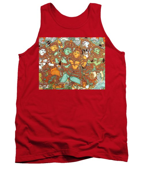Kerala Mural Painting Tank Top by Pg Reproductions